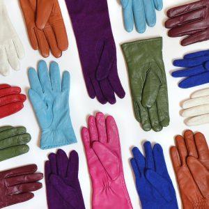 Farbige Lederhandschuhe